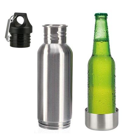 TSV Beer Bottle Cooler | Insulated Beer Bottle Holder Stainless Steel Fits 12 oz. or 330ml bottles Standard and Long-Neck Bottles | Bonus Bottle (Thermal Bottle Cooler)
