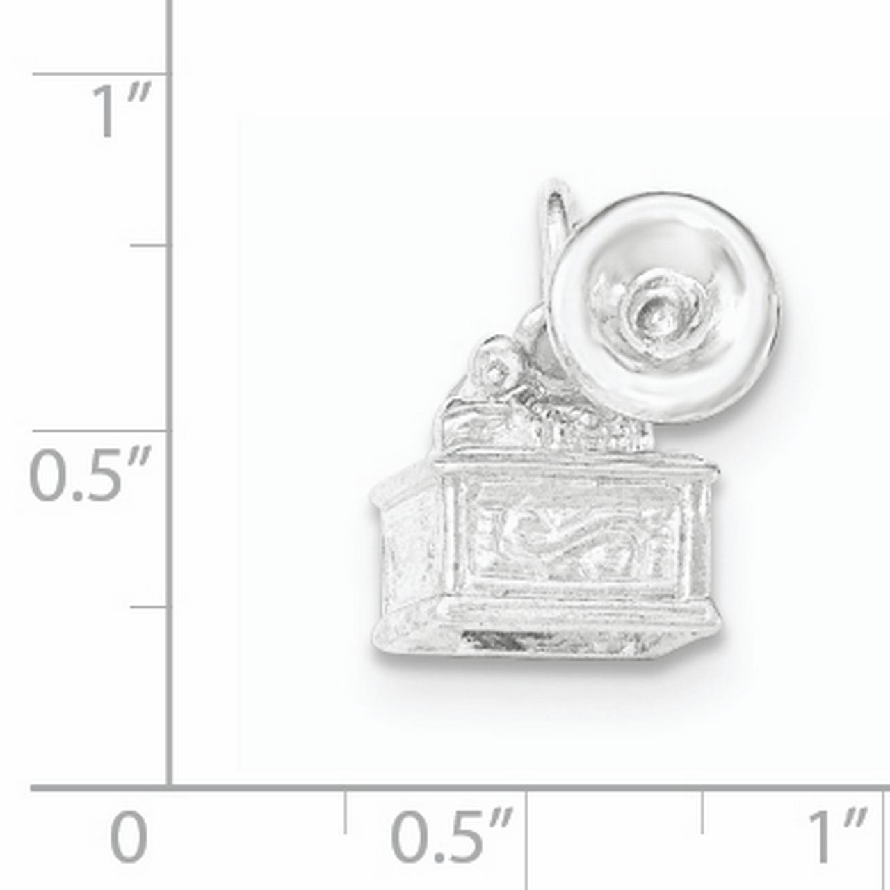 925 Sterling Silver Textured Photograph Pendant Charm Necklace Musical Fine Jewelry Gifts For Women For Her - image 1 de 2