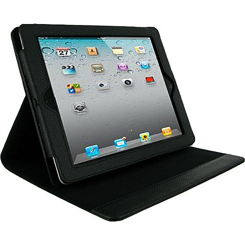 multi-Angle Vegan Leather Case Cover Stand for The new iPad 3 / iPad 2