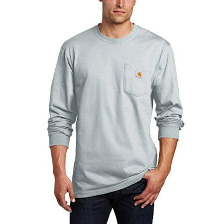 036b99794150 Carhartt - Carhartt Men's Workwear Long Sleeve Pocket T-Shirt K126, Ash,  XXX-Large Regular - Walmart.com