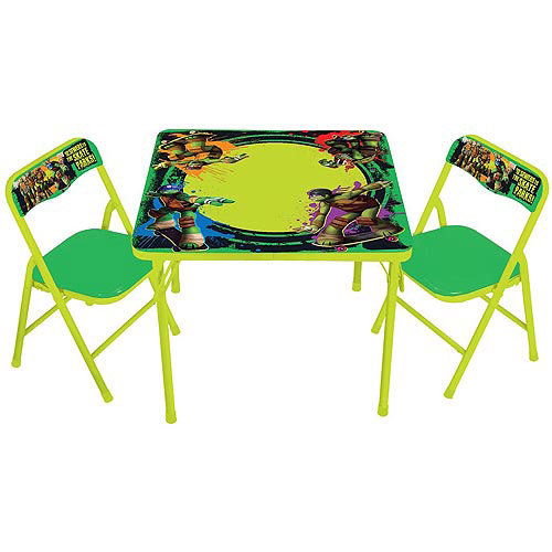 Nickelodeon Teenage Mutant Ninja Turtles Erasable Activity Table Set with Markers  sc 1 st  Walmart : erasable table and chair set - pezcame.com