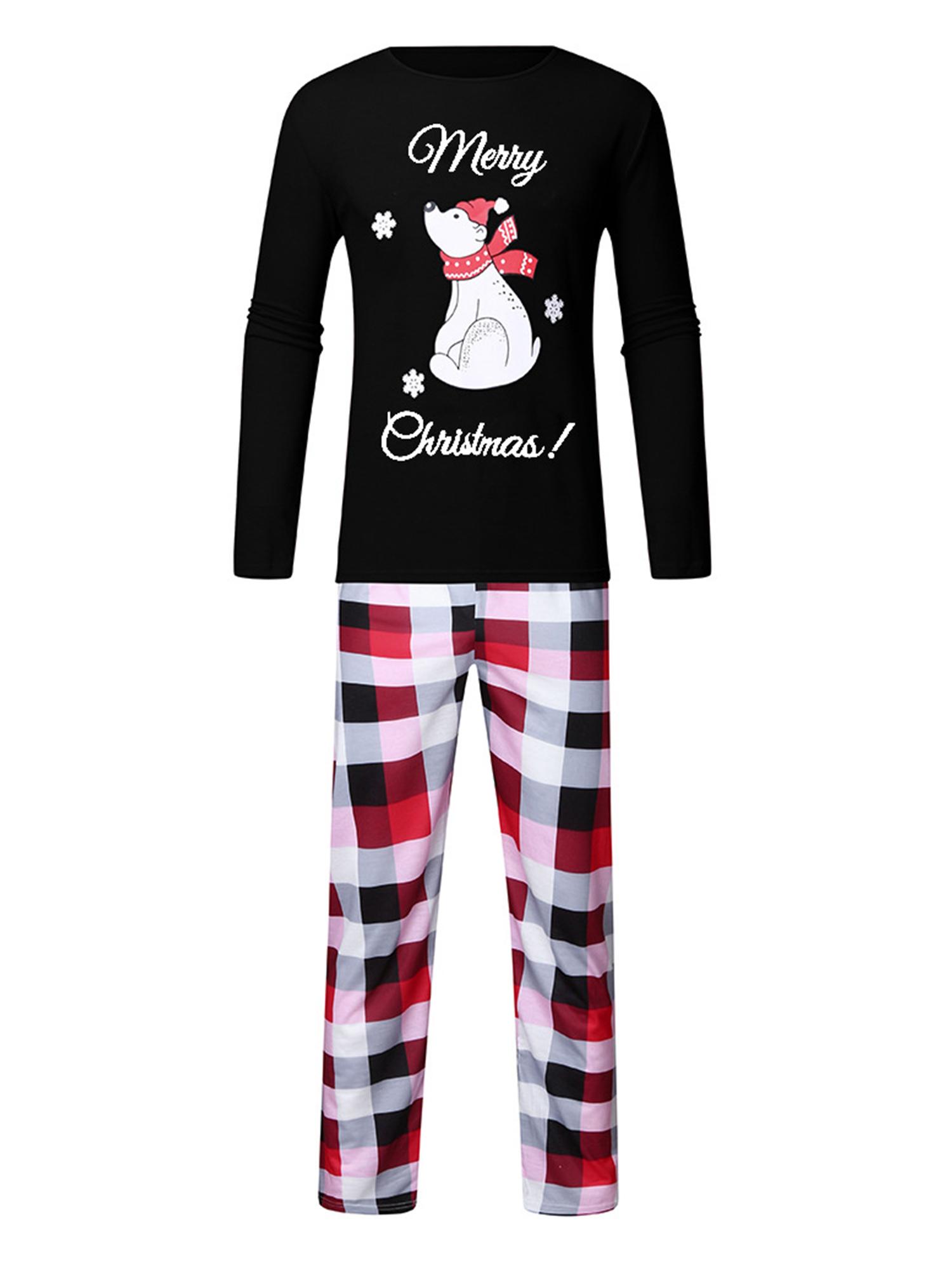 Chennie Family Matching Clothes Women Men Kid Baby Battery Print Nightwear Pajamas Set