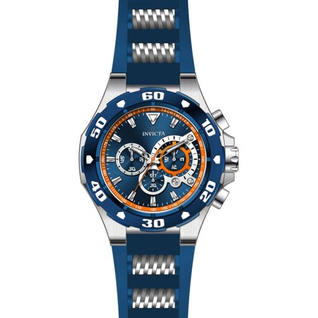 Invicta Men's 28717 Pro Diver Quartz Chronograph Blue, Orange Dial Watch ()