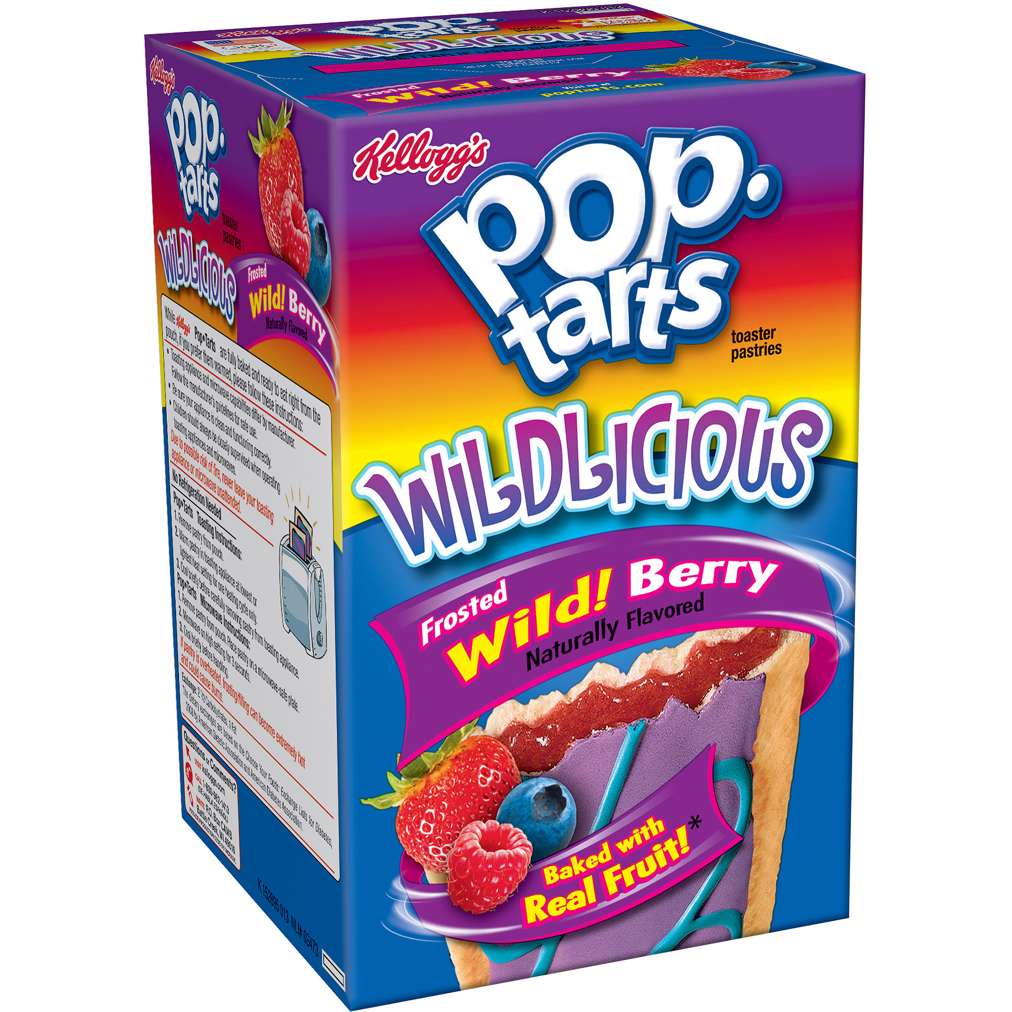 Kellogg's Pop-Tarts Frosted Wild Berry, 8 ct