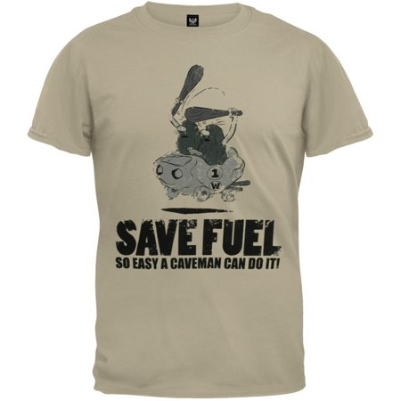 Captain Caveman - Save Fuel Distressed T-Shirt