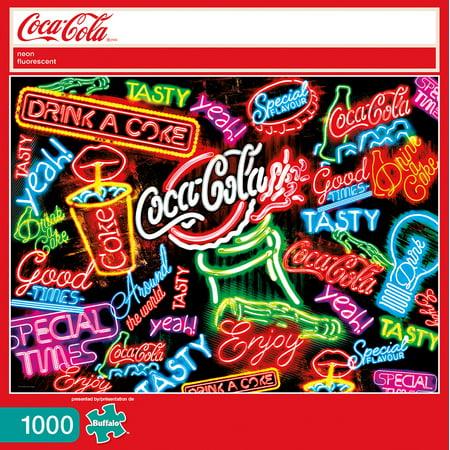 Buffalo Games Coca Cola - Coca-Cola Neon: 1000 Pcs - Halloween 1000 Games
