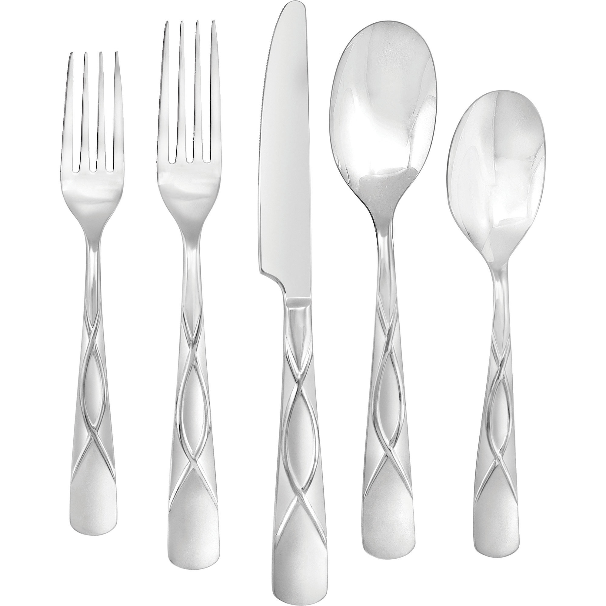 Farberware Cilantro Sand 20-Piece Flatware Set
