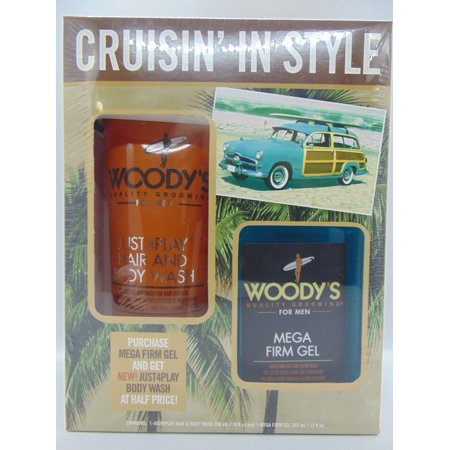 Mens Woody's PROFESSIONAL Hair & Body Wash AND Mega Firm covid 19 (Firming Body Wash coronavirus)