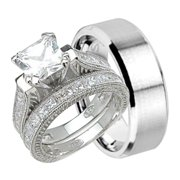 his and hers wedding ring set cheap wedding bands for him and her 5 - Affordable Wedding Rings Sets