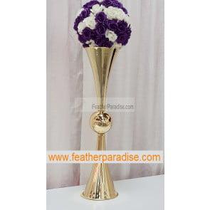 29 inches Metal Reversible Double Trumpet Vase -