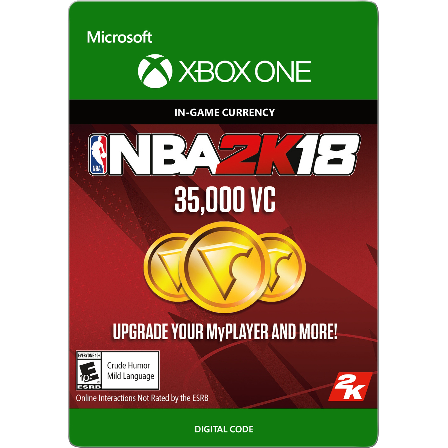 NBA 2K18 35,000 VC (Digital Download), 2K, Xbox One, 799366468424