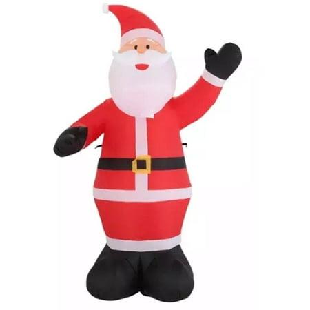9 ft Inflatable Waiving Santa Claus Inflatable Outdoor Holiday Yard - Cowboy Santa Claus