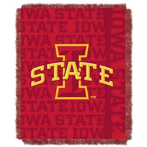 Iowa State Jacquard Woven Throw Blanket