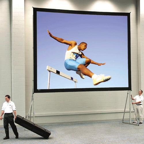 Da-Lite Fast Fold Deluxe Da-Tex 96'' H x 288'' W Portable Projection Screen