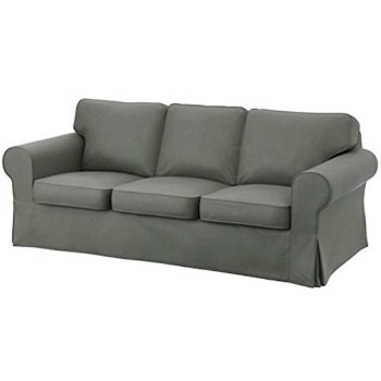The Dark Gray Dense Cotton Rp 3 Seat Sofa Cover Replacement Is Custom Made For Ikea