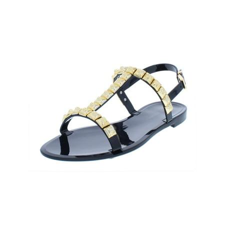 682ad8289 Stuart Weitzman Womens Jelrose Embellished T-Strap Flat Sandals