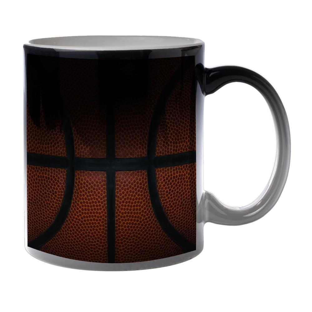 KuzmarK Black Heat Morph Color Changing Coffee Cup Mug 11 Ounce - Basketball Life