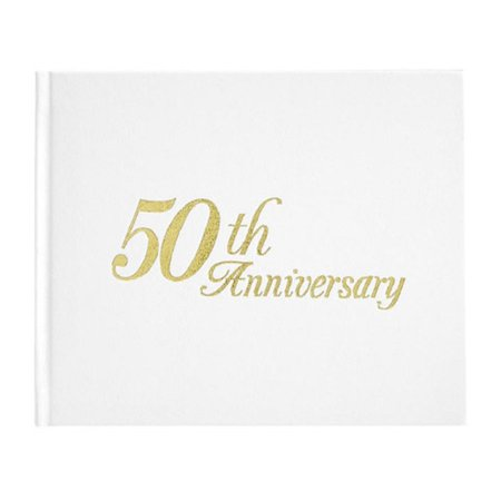 50th Anniversary Guest Book Personalized (50th Anniversary Guest Registry Book, Darice By)