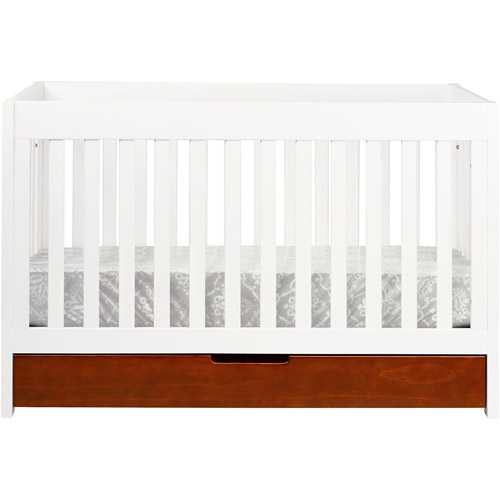 Baby Mod ParkLane 3 In 1 Baby Convertible Crib Amber And White