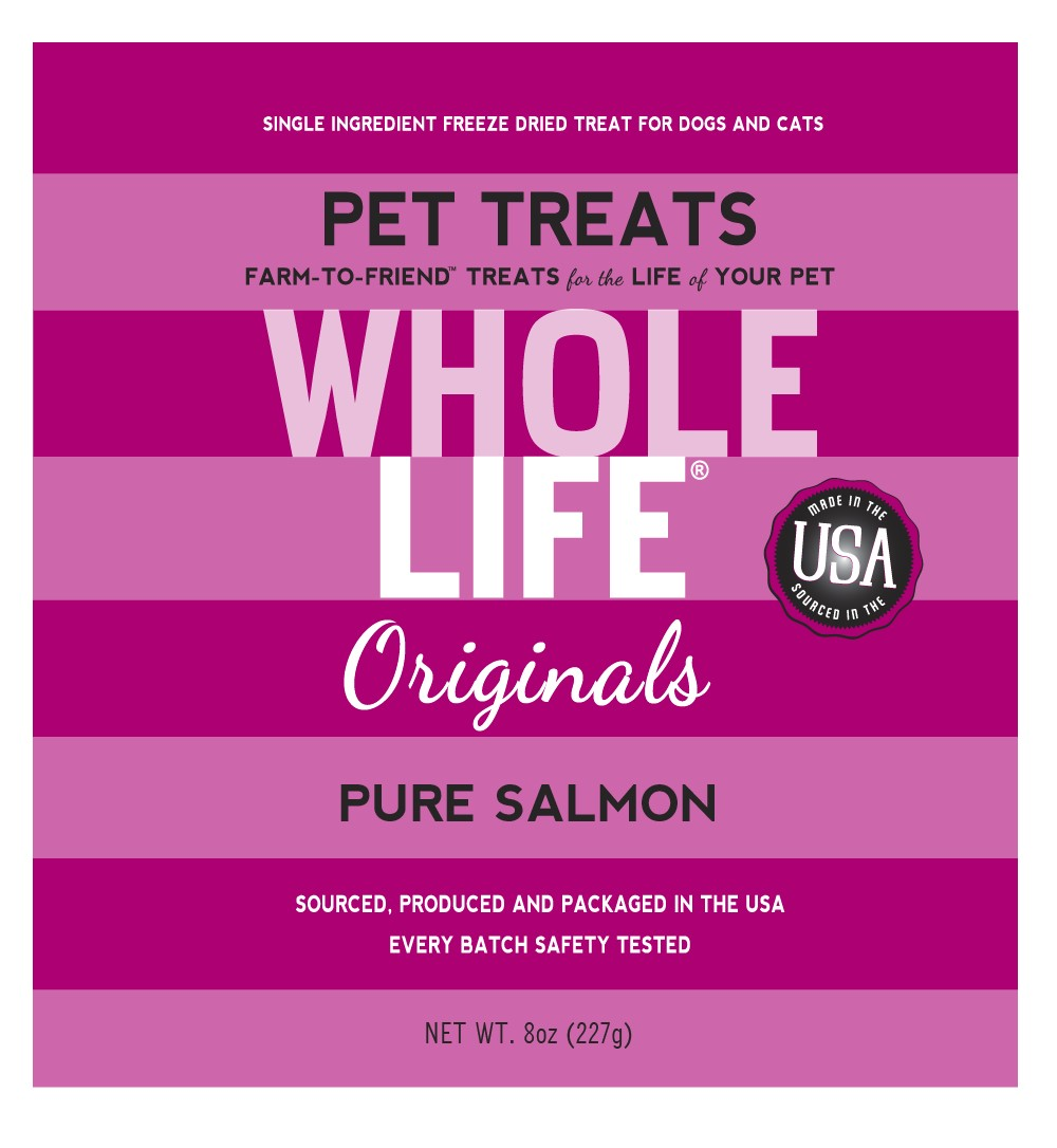 Whole Life Originals Grain-Free Pure Salmon Pet Treats, 8 Oz