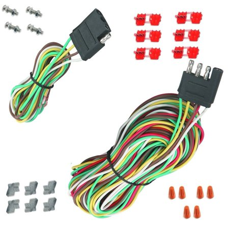 25` 4 Way Trailer Wiring Connection Kit Flat Wire Extension Harness  Flat Trailer Wiring Harness Boat on