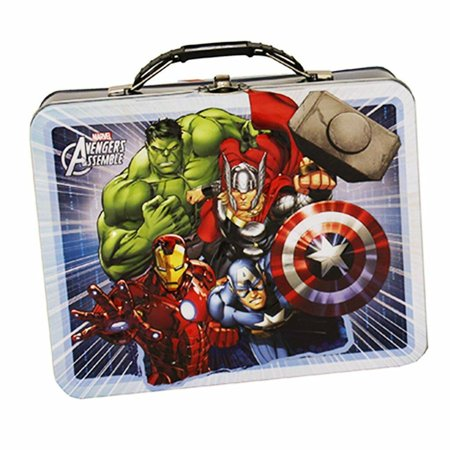 Avengers Assemble Large Embossed Tin Lunch Box - White Border
