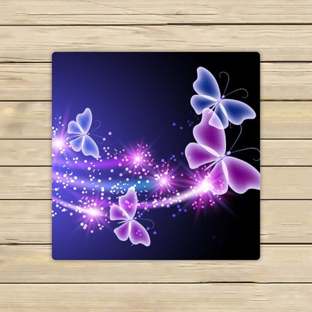 GCKG Pink Purple Butterfly Shining Light Beach Towel Shower Towel Wrap For Home and Travel Use Size 13x13 inches ()