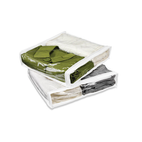 Honey Can Do Two Pack of Storage Bag in White (Set of 3)