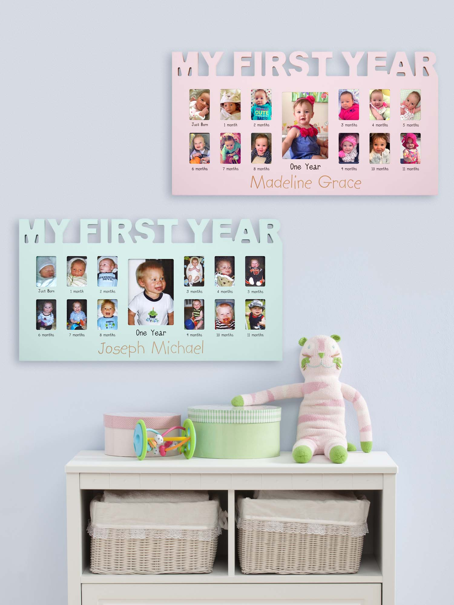 Personalized Baby's First Year Picture Frame - Available ...