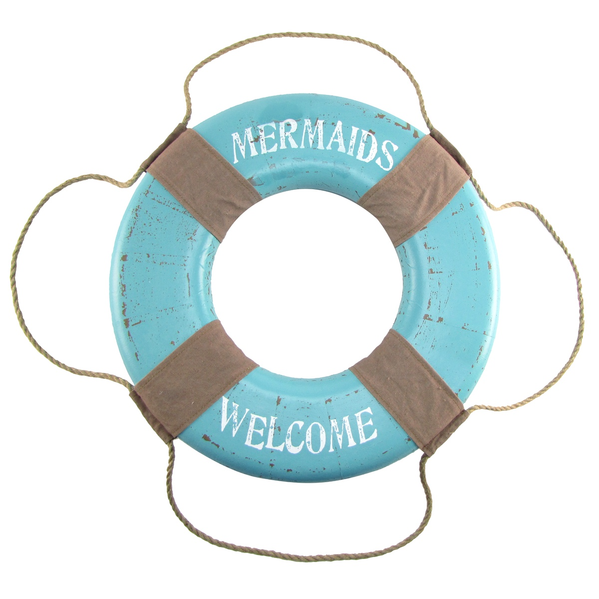 Mermaids Welcome Life Saver Preserver Ring Big Nautical Beach Mermaid Wall Decor