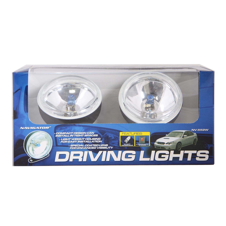Pilot Automotive NV-552W H3 Bulb 3.25 inch Round Driving/Fog Light ...