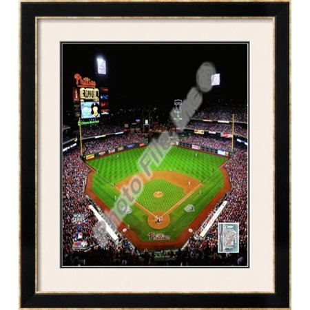 Citizens Bank Park Game (Citizens Bank Park Game Four of the 2009 MLB World... Framed Photographic Print Wall Art)