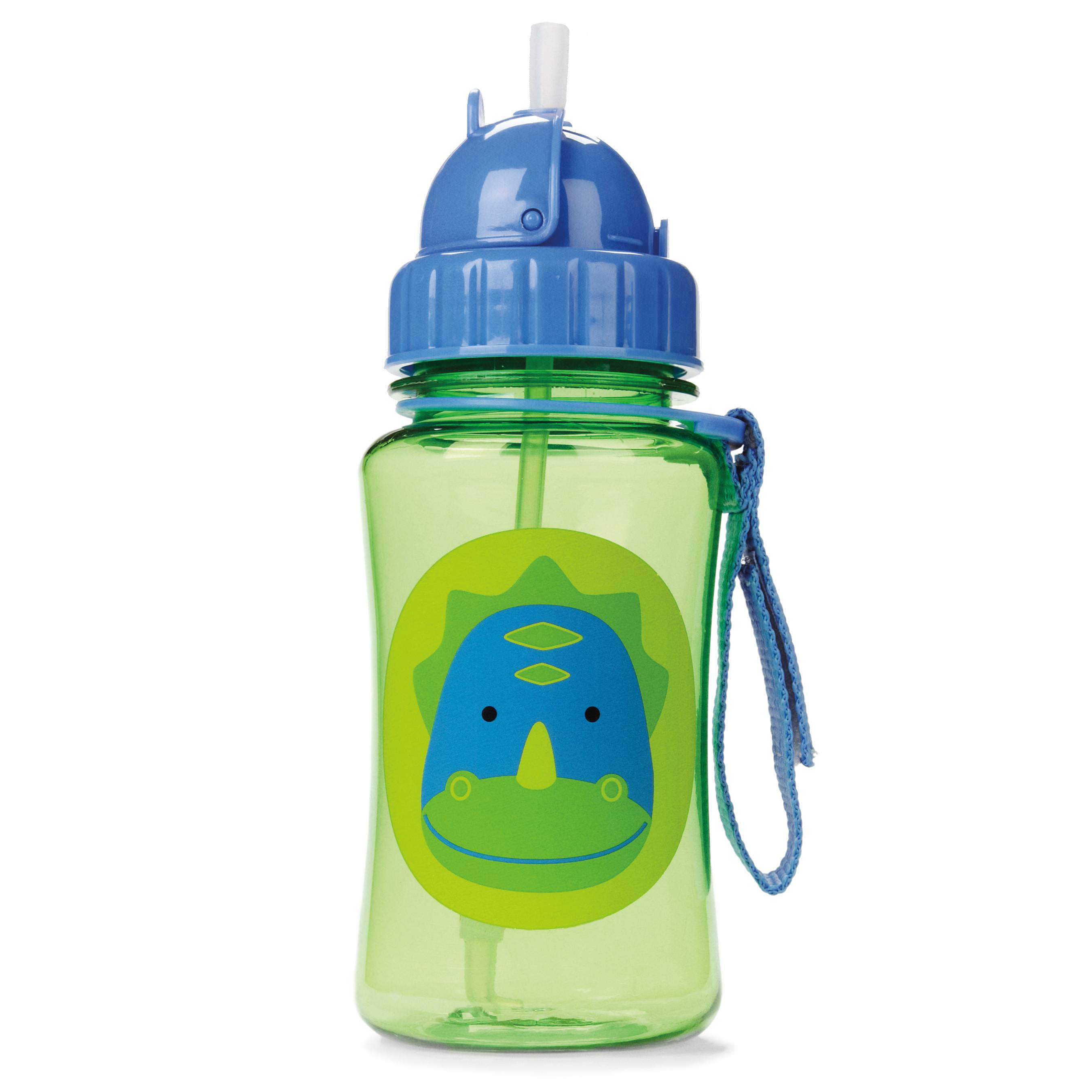 Skip Hop Zoo Straw Bottle, Dinosaur