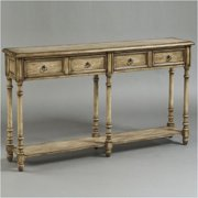Bowery Hill Rustic Chic Console Table in Dune