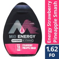 (2 Pack) MiO Energy Strawberry Pineapple Smash Liquid Water Enhancer, 6 - 1.62 fl oz Bottles