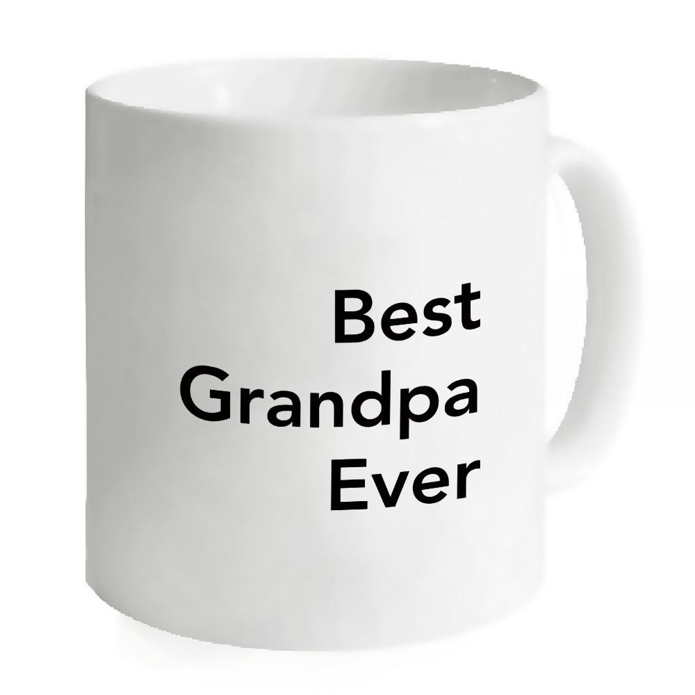 Popeven Best Grandpa Ever Mug, Custom Quote Mug White Ceramics Travel Mug Gift For Him - 11 Oz