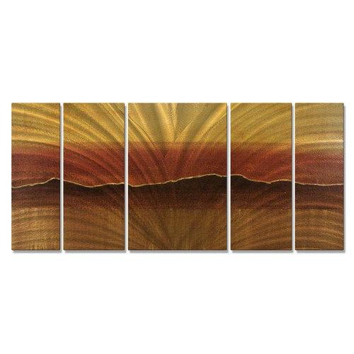 Tuscan Sun Metal Wall Art - Set of 5 - 56W x 23.5H in.