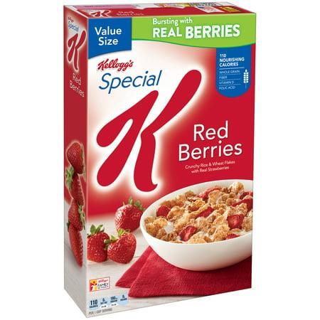 Halloween Breakfast Food Ideas ((3 pack) Kellogg's Special K Breakfast Cereal, Red Berries, 16.9)