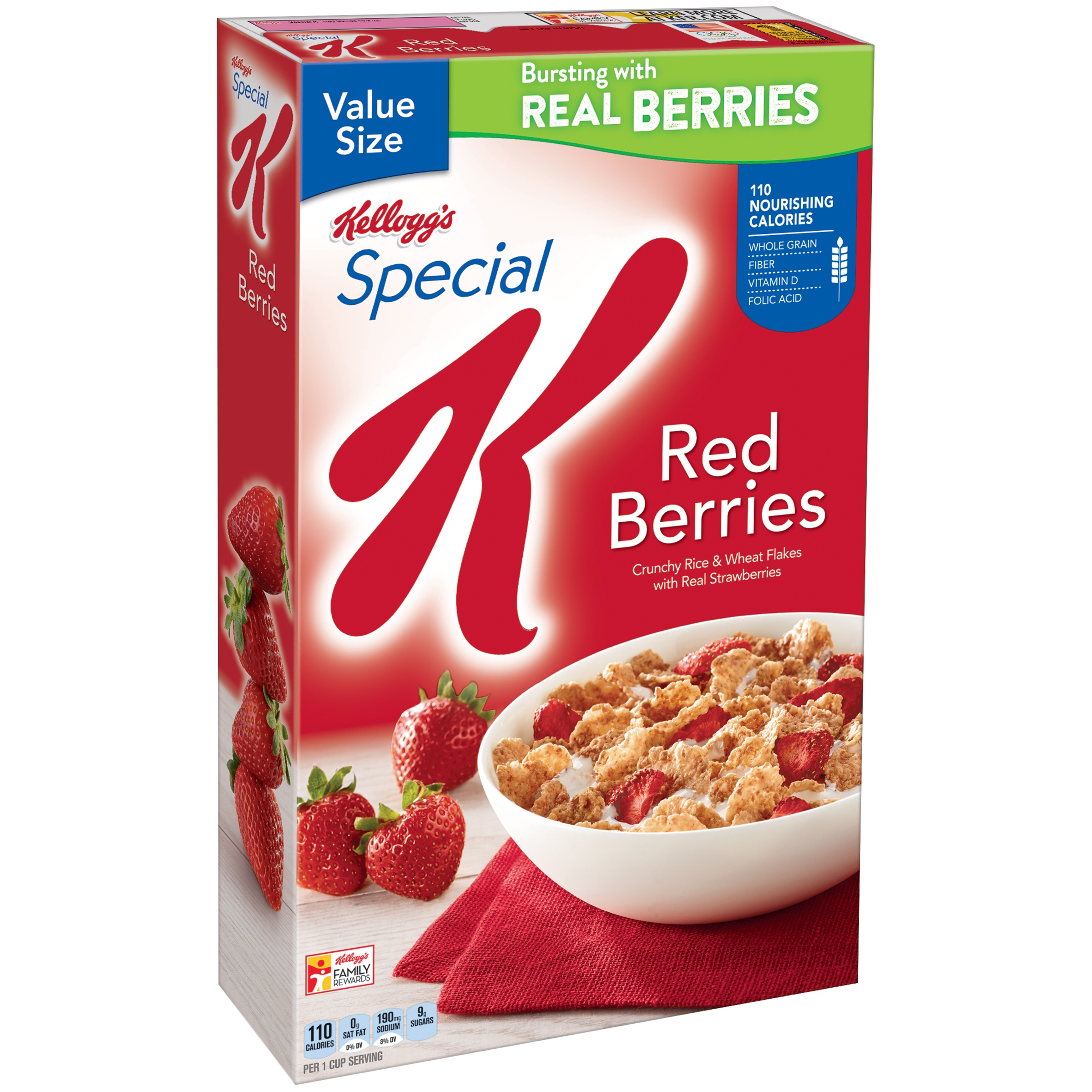 Kellogg's Special K Breakfast Cereal, Red Berries, 16.9 Oz