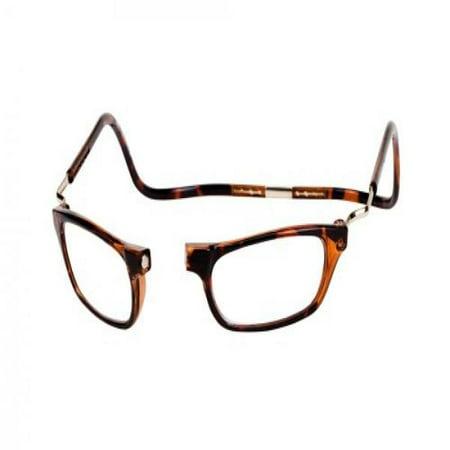 30276d7dc530 CliC Magnetic Closure Reading Glasses XXL with Adjustable Headband Tortoise  1.50 - Walmart.com