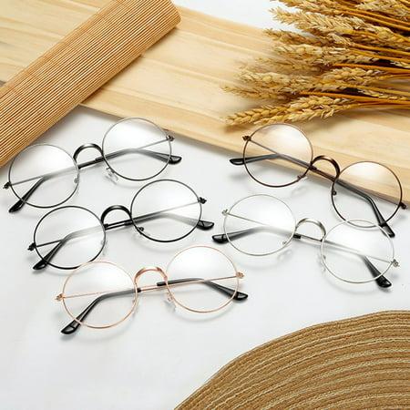 Fashion Plain Glasses Frame Round Metal Frame Optical Eyeglasses Frame - image 4 of 6