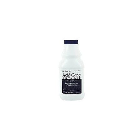 - 4 Pack Major Acid Gone Antacid Liquid Generic for Gaviscon Spearmint 12oz Each