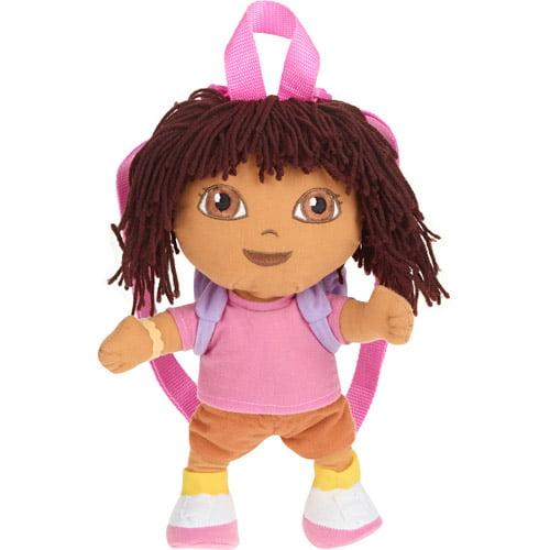 Plush Backpack - Dora the Explorer - Pink Little Girls New 233821