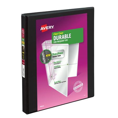 "Avery 0.5"" Durable View Binder, Slant Ring, Black, 120 Sheets"