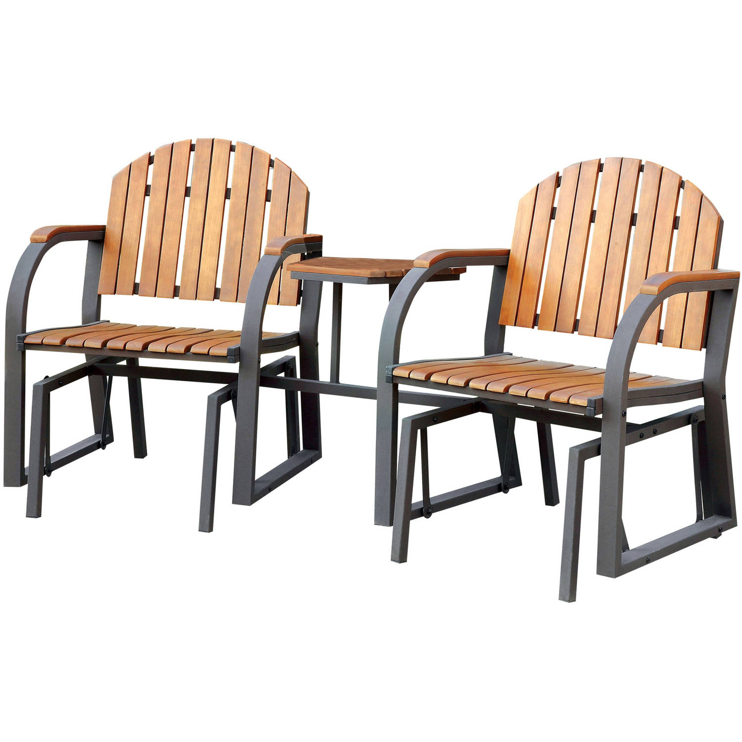 furniture of america sandy patio rocking chairs oak