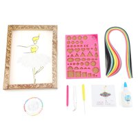 FAGINEY Quilling Strips DIY,8PCS Paper Quilling DIY Craft Kits Quilling Strips DIY Crafts Tool Set, Paper Quilling Kits