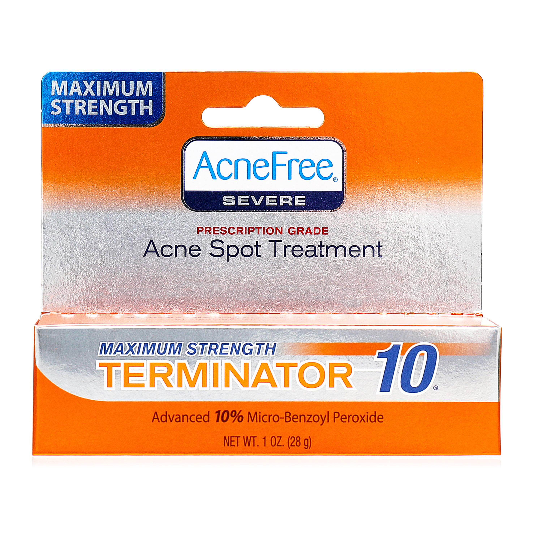 AcneFree Maximum Strength Terminator 10 Acne Spot Treatment With Benzoyl Peroxide 1 Oz