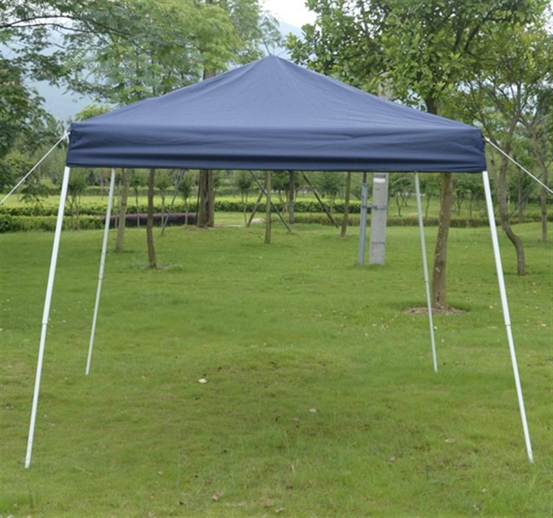 Outsunny 10' x 10' Slant Leg Easy Pop-Up Canopy Party Tent - Blue