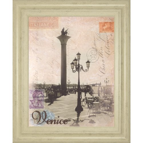 Classy Art Wholesalers Venice Travelogue by Ben James Framed Graphic Art by Classy Art Wholesalers