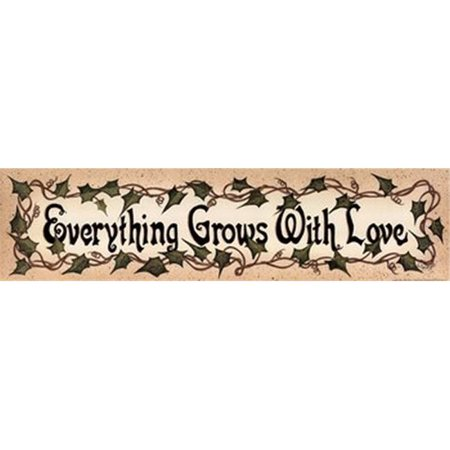 Everything Grows with Love Poster Print by Linda Spivey - 20 x 5 - image 1 of 1